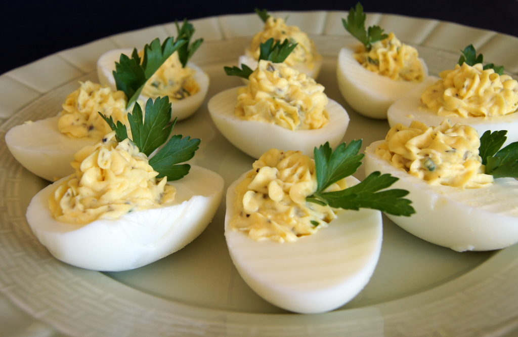 Karen Cooks: Deviled Eggs with Tarragon and Capers