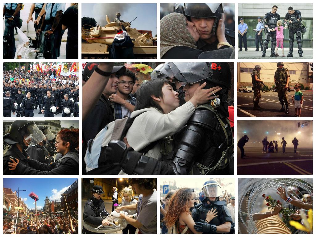 Человеческое сострадание во время акций протеста