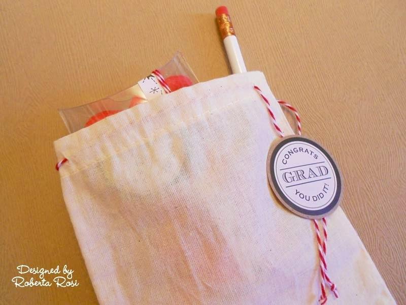 SRM Stickers Blog - Graduation Party by Roberta - #graduation #stickers #pencils #pillow box #muslin bag