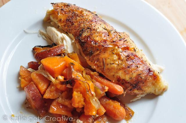 Easy Roast Chicken from Katie Gets Creative