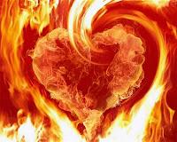 Yüreği Yanmak, Yanan Kalp, Alev Yangın Ateşli Aşk
