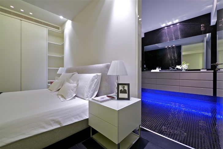 Penthouse bedroom and bathroom. World of Architecture  One Of The Best Penthouses For Sale Ever
