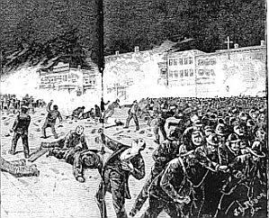 Peristiwa Haymarket, Polisi menembaki para demonstran disusul dengan perlawanan dari kaum buruh.