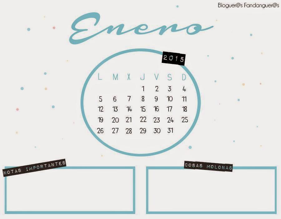 calendario de Enero cuatro
