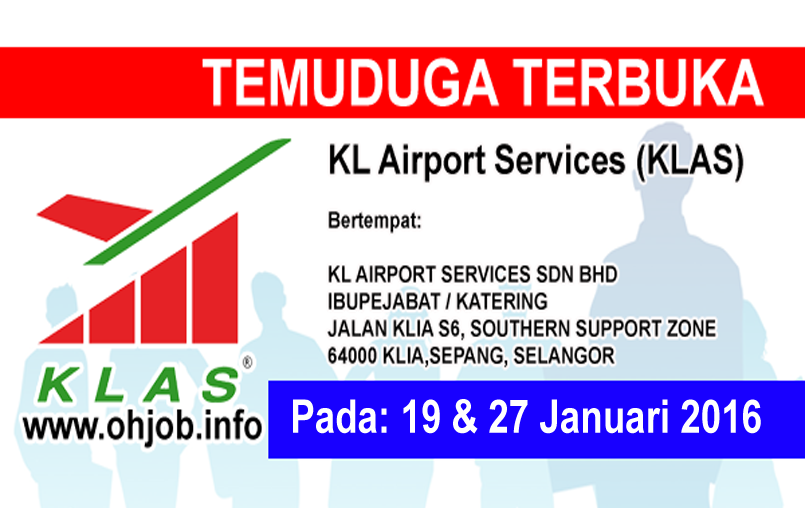Jawatan Kerja Kosong KL Airport Services (KLAS) logo www.ohjob.info januari 2016