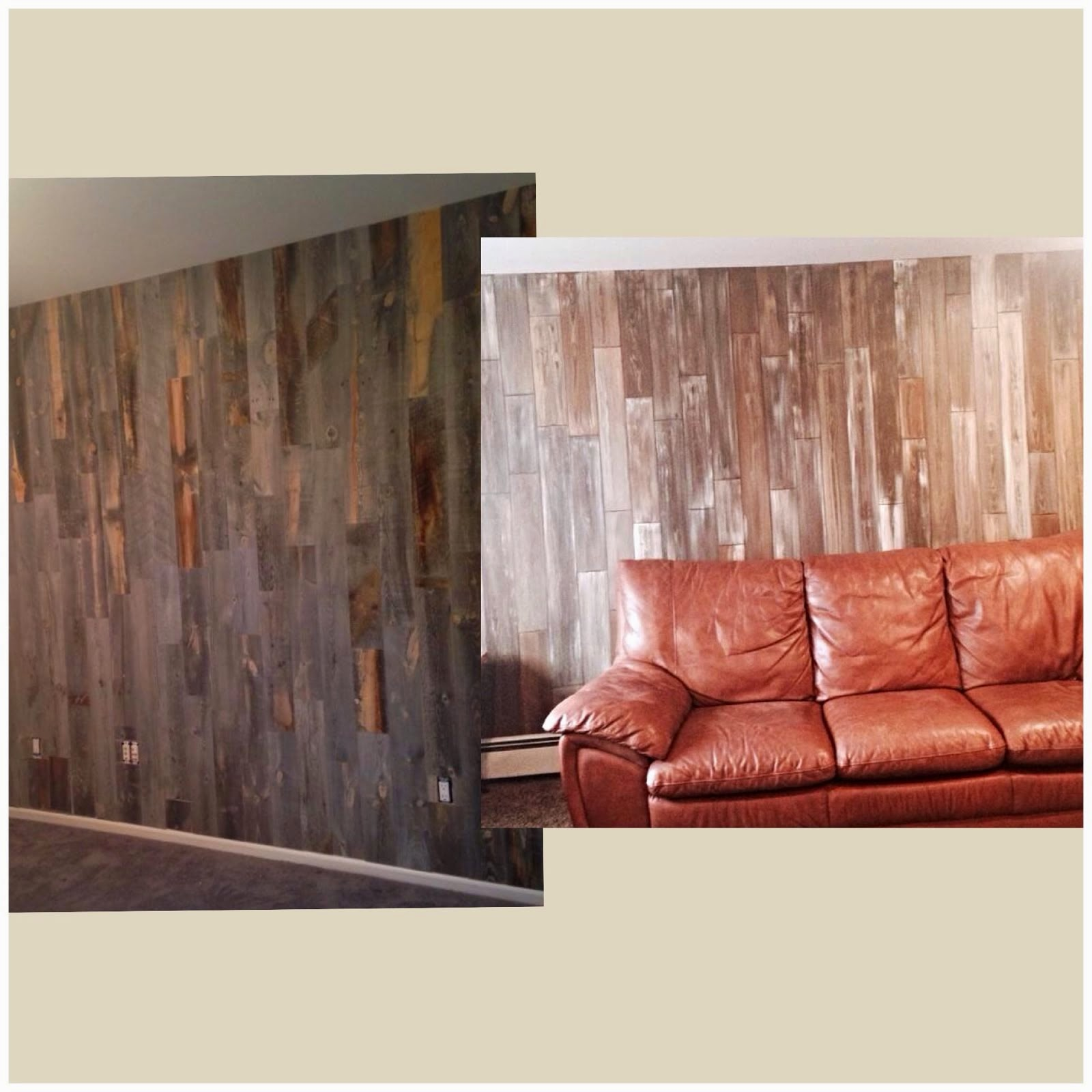 Faux Wood Planks for Walls