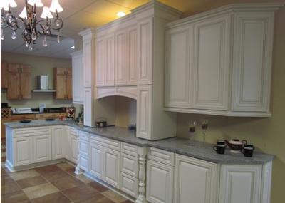 Venetian White Kitchen Cabinets