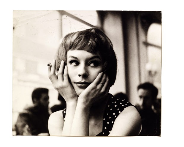 Portrait of an unknown girl in a cafe, 1960s. Photograph: John Deakin