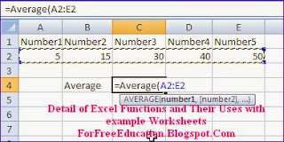 use-of-average-function-in-excel-worksheet