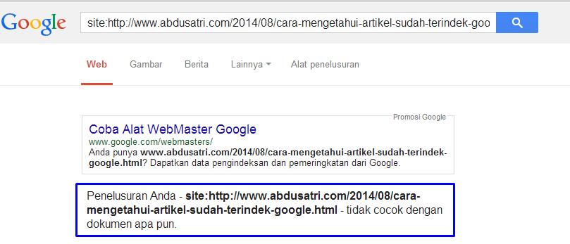 mengetahui posting terindeks google