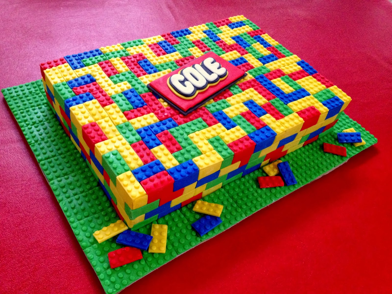 lego cake instructions