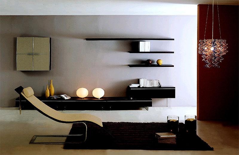 Contemporary Wooden Wall Shelf