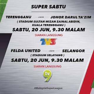 Keputusan Terkini Liga Super 20 Jun 2015