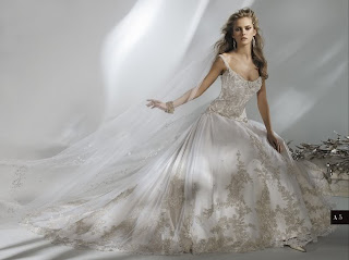 Absolutely stunning beaded ballgown wedding dress.