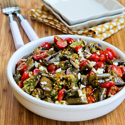 Grilled Eggplant, Grape Tomato, and Feta Salad with Amazing Basil ...