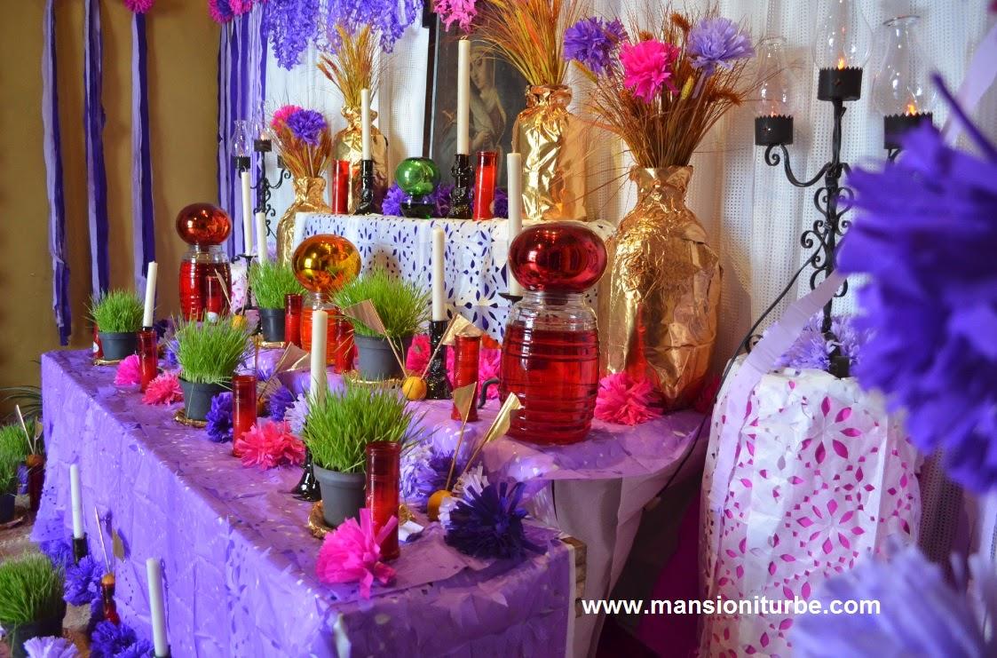 Altar de Dolores en Pátzcuaro en el Hotel Mansión Iturbe