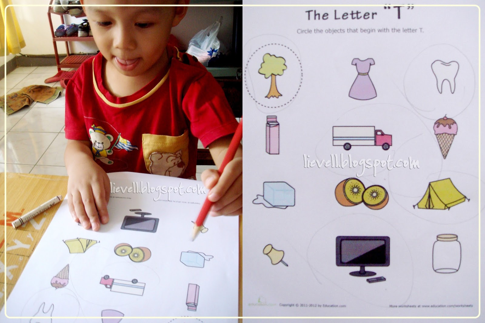 Objects Start with Letter I http://lievell.blogspot.com/2013/01/preschool-letter-t-and-transportation.html