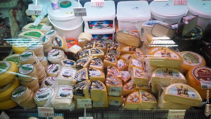 Сыры в супермаркете «Voli», Петровац