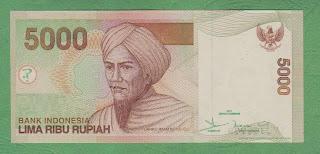 Pecahan 5000 Rupiah tahun 2001