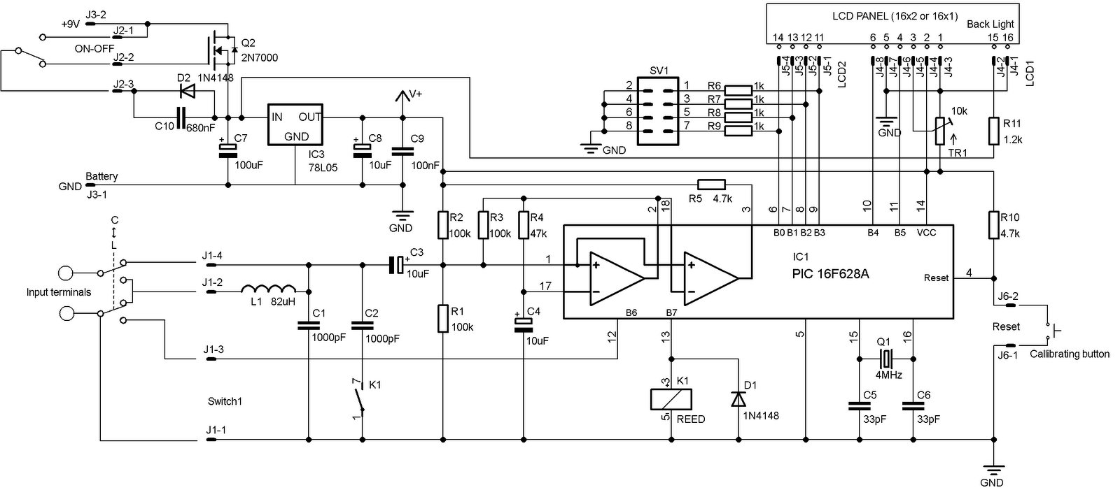 Diyfan Simple Lc Meter How To Build Vu 1 Circuit Diagram I Also Added An Automatic Sleep Mode Schematic Of Which Found Here Http Marcorgau Marc Proj Switchhtml