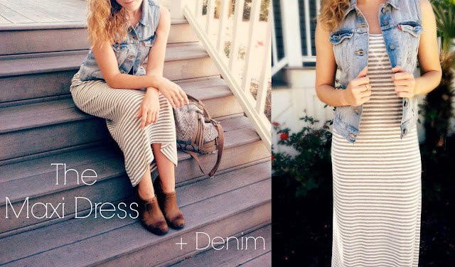 Fall(ing) In Love With The Maxi Dress + Denim