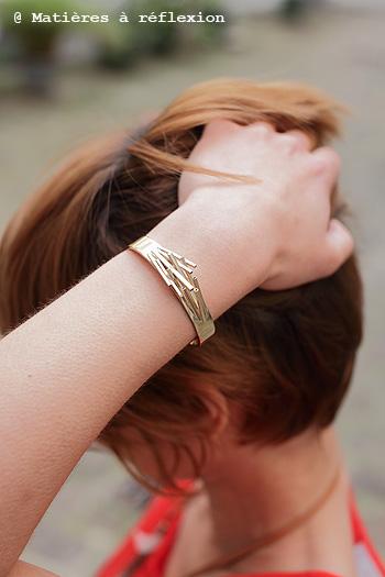Bracelet Manchette baguettes Moonstrock doré