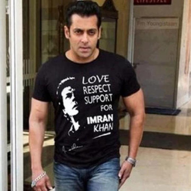 Bollywood Star Salman Khan who is also an active follower of Imran Khan