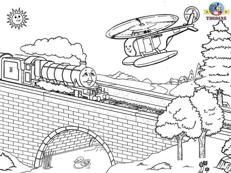 engine free coloring pages