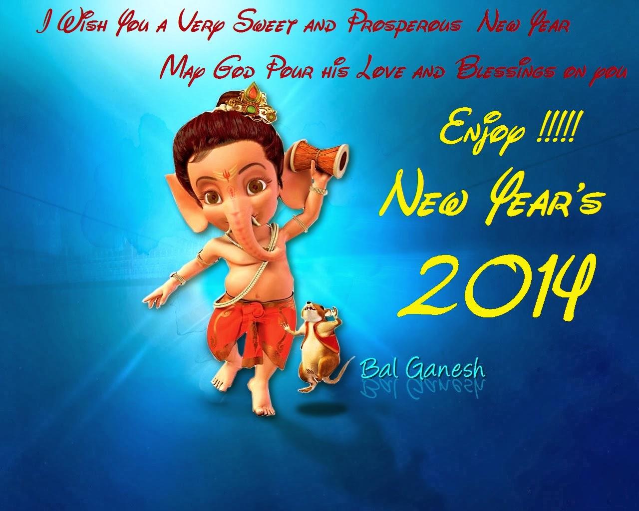 Khushi For Life Ganesha New Year 2014 Cards Bal Ganesh Greetings