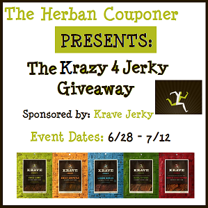 Free Blogger Opp! Krazy 4 Jerky Giveaway!