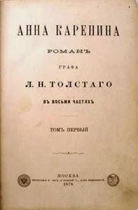 Primera página original de Ana Karenina de León Tolstói