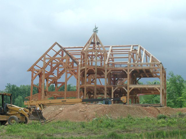 Download this Building Timberframe Home From Scratch picture