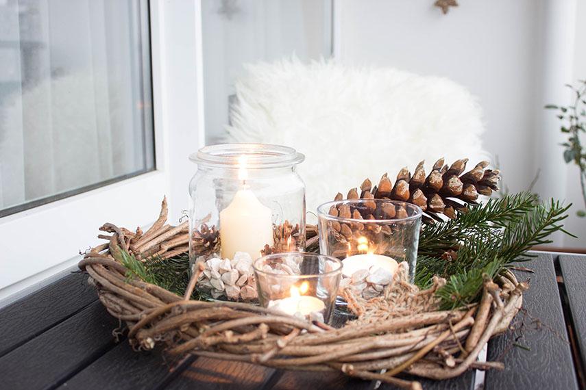 4 * Rustikale Weihnachtsdeko für den Balkon | ars textura – DIY-Blog