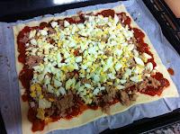 receta empanada de pisto, tomate, pimiento, atún, huevo