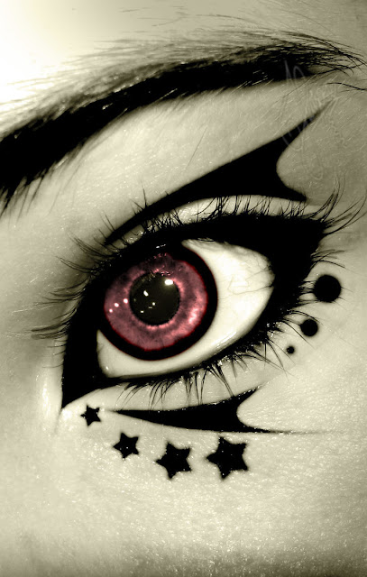 Black Stars and Stripes Eye Makeup