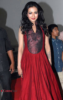 Catherine Tresa Pictures in Red Long Dress at Iddarammayiloto Audio Release Function 0009