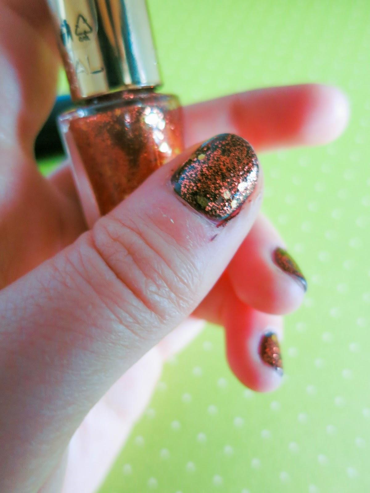 nails L'oreal mani Copper Cuff Autumn