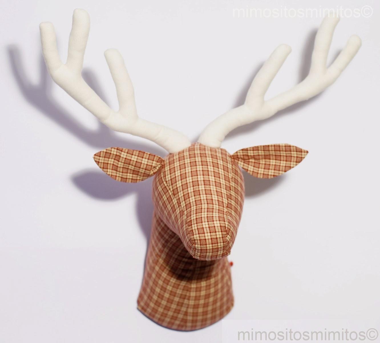Decoraci n decorar regalar interiores interiorismo craft hechos a mano handmade ikea mobiliario - Cabezas animales tela ...
