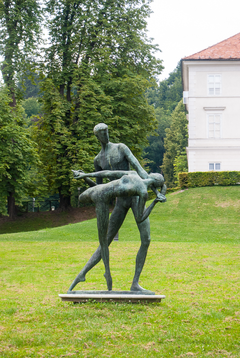 statues in the park ljubljana, slovenia