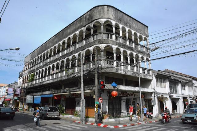Phuket Town black facades