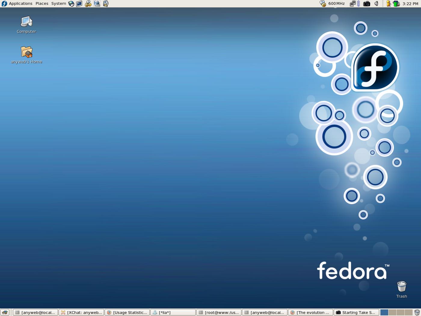Gambar Desktop Fedora