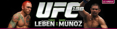 ufc 138, chris leben, mark munoz, birmingham
