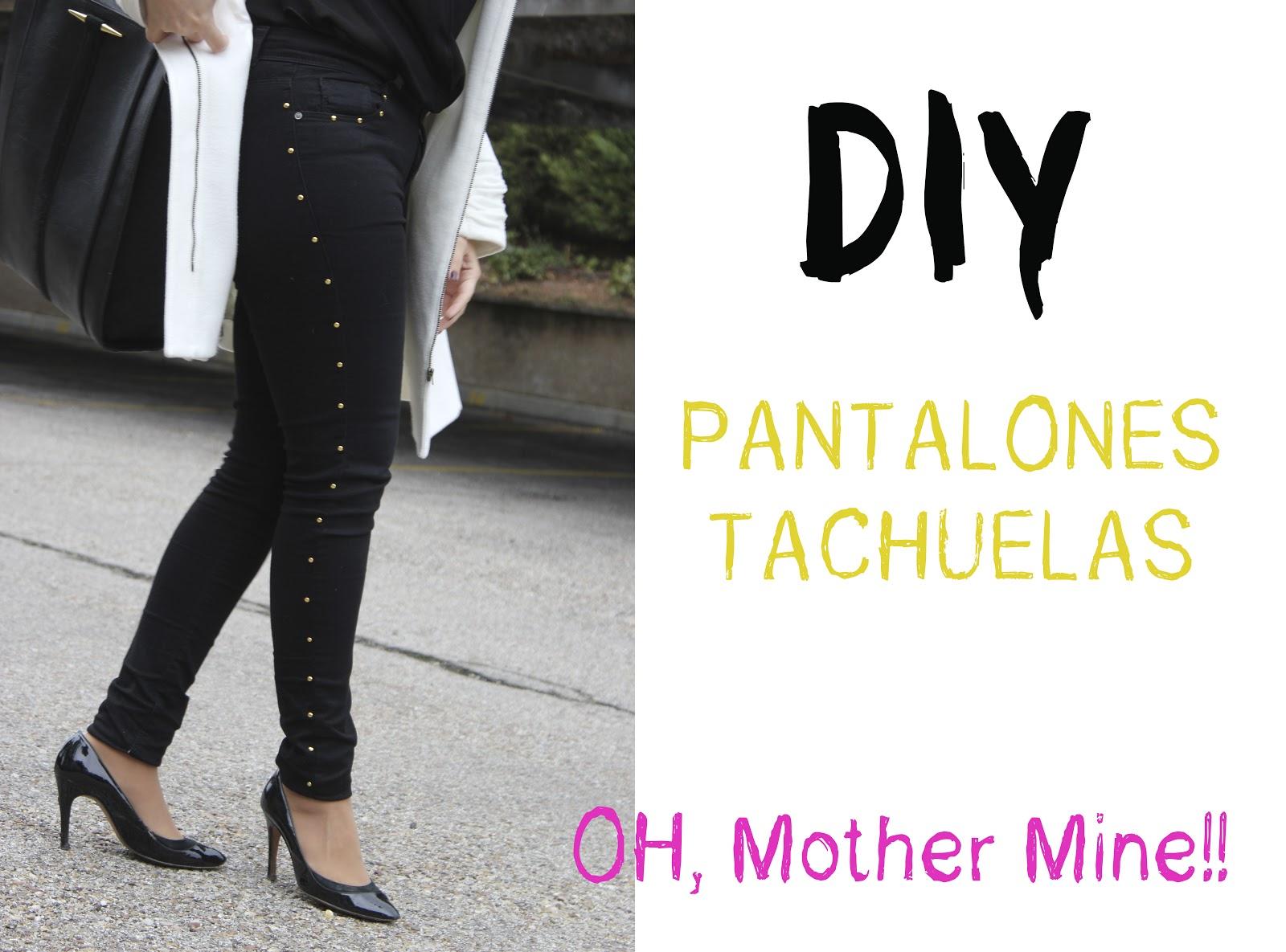 DIY Customizar unos pantalones con tachuelas | | Oh, Mother Mine DIY!!
