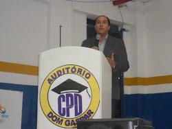 Palestra sobre Escolarização Hospitalar, na Faculdade Paschoal Dantas