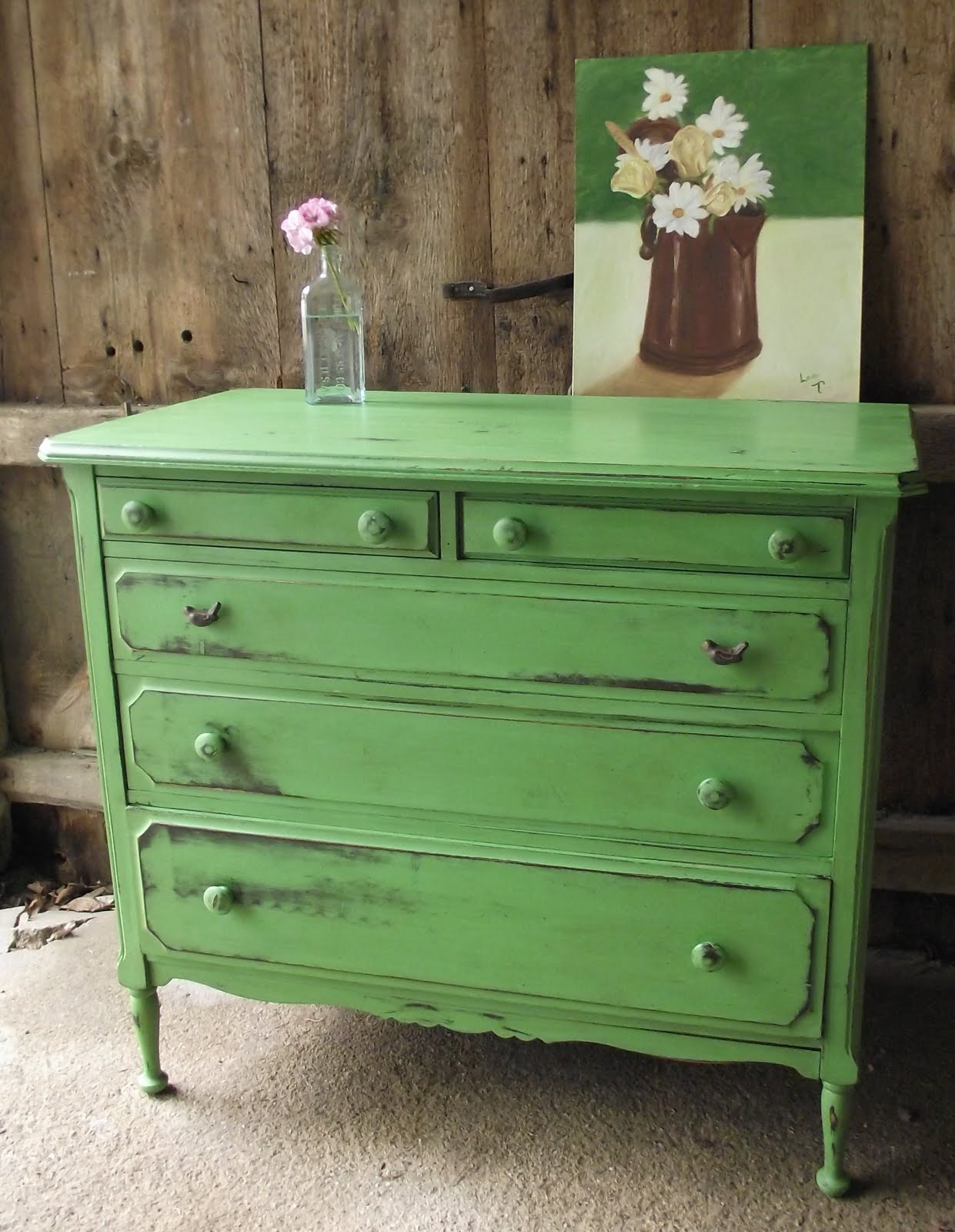 Green Painted Furniture Brilliant With Annie Sloan Chalk Paint Green Pictures