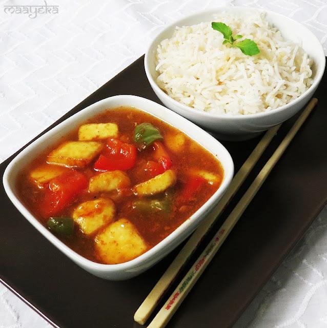 Sweet and Sour Paneer (Paneer Manchurian)