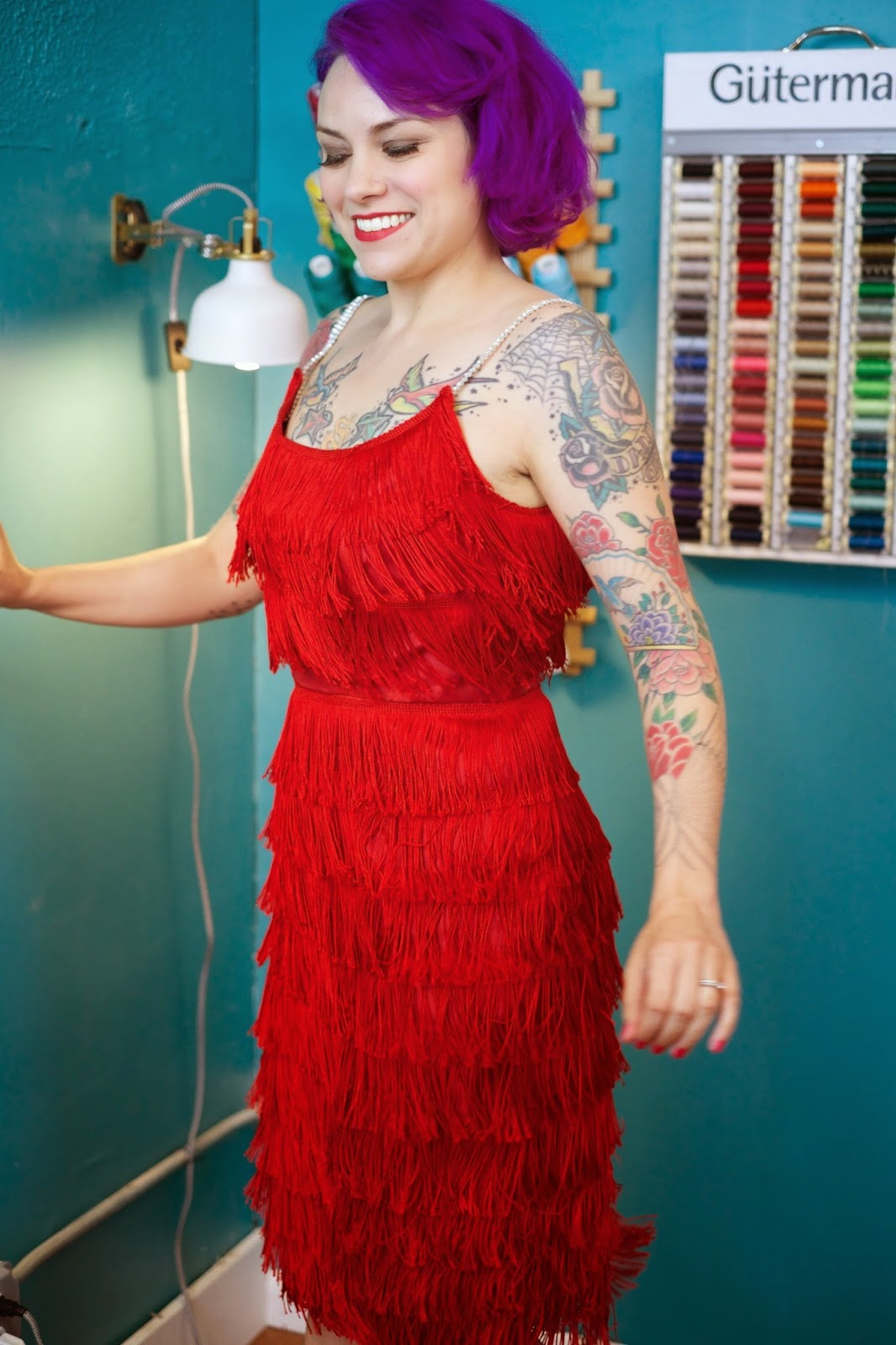 gertie s new blog for better sewing wanda jackson inspired fringe dress