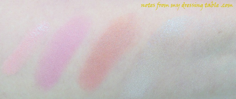 Talking ColourPop At Last! - Blush Highlight Lippie Stix Swatches notesfrommydressingtable.com