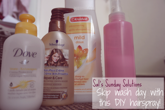 Skip wash day with this DIY hairspray, DIY hairspray