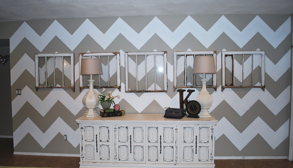 Christmas Gift Catalogs How To Paint A Chevron Wall Tutorial